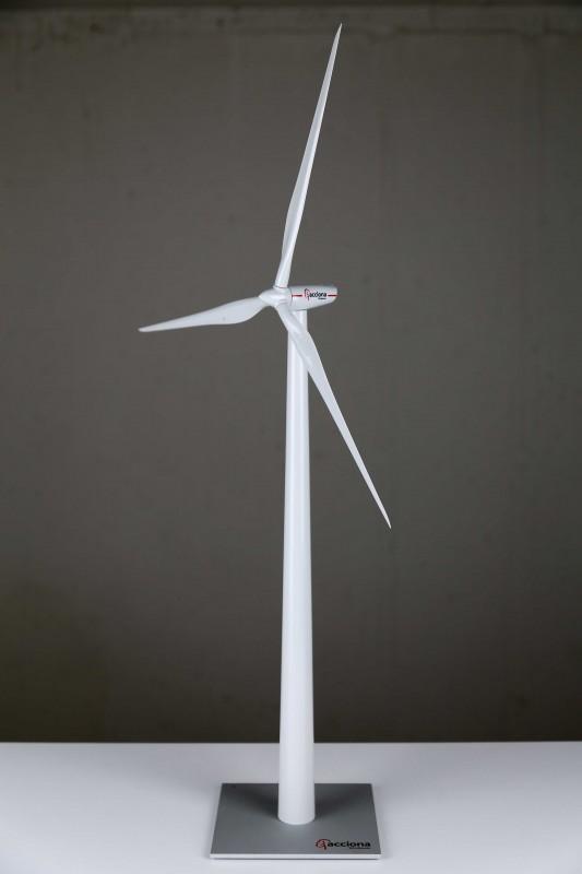 Acciona AW-125/3000 wind turbine generator desk top model